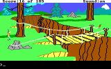 King's Quest II: Romancing the Throne DOS An old bridge