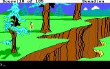 King's Quest II: Romancing the Throne DOS A ravine