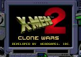 X-Men 2: Clone Wars Genesis Title Screen