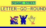 Sesame Street: Letter-Go-Round DOS Title Screen