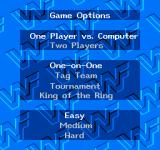 WWF King of the Ring NES Main menu