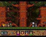 Humans 3: Evolution - Lost in Time Amiga Sherwood Forest Level