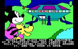 Mickey's Space Adventure DOS Mickey finds the spaceship (Tandy/PCjr)