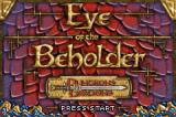 Dungeons & Dragons: Eye of the Beholder Game Boy Advance Title screen