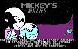 Mickey's Space Adventure DOS Title screen (CGA)