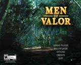 Men of Valor Windows Main menu