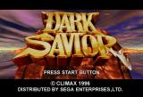 Dark Savior SEGA Saturn Title screen
