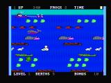 Frogger II: ThreeeDeep! PC Booter Hop across to the tug boat (PCjr with composite monitor)