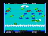 Frogger II: ThreeeDeep! PC Booter Avoid the dragon! (PCjr with composite monitor)