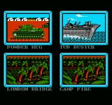Ultimate Air Combat NES Mission select screen
