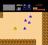 The Legend of Zelda NES Exploring the desert. These enemies can burrow in the sand, and emerge where you least expect it.