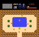 The Legend of Zelda NES A fairy is restoring my health.