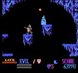 Wizards & Warriors NES Ghostly creatures are living in these caves.
