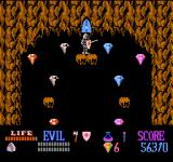 Wizards & Warriors NES I have found a secret room, filled with treasures.