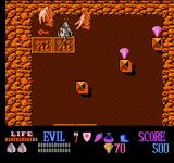Wizards & Warriors NES You need keys to open doors and chests. Some demons have just knocked me down, but I will soon teach them a lesson!