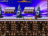 Jazz Jackrabbit 2: Holiday Hare 98 Windows Crimson king? No, it's just a Bilsy boss. He's very hard to kill.