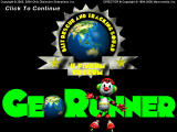 GeoRunner Windows Title screen