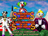 Superheroes Math Challenge Windows Title screen