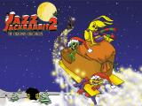 Jazz Jackrabbit 2: Holiday Hare 98 Windows Starting screen (The Christmas Chronicles edition)