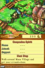 Children of Mana Nintendo DS Walking around village