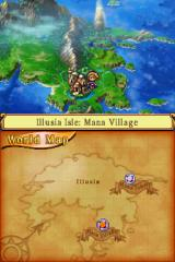 Children of Mana Nintendo DS World map