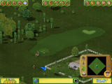 Golf Resort Tycoon II Windows Golfers lining up to play this hole