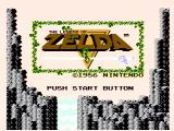 The Legend of Zelda NES Title screen
