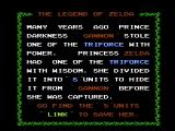 The Legend of Zelda NES The opening story