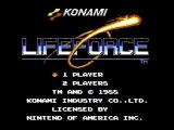 Life Force NES Title screen
