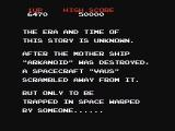 Arkanoid NES The opening story