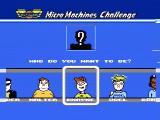 Micro Machines NES Choose a character