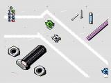Micro Machines NES On top of the workbench