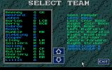 Graham Taylor's Soccer Challenge Atari ST Setting up the team