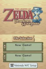 The Legend of Zelda: Phantom Hourglass Nintendo DS Main menu