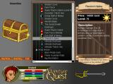 AdventureQuest Browser Various shops can be found within the game, featuring an ever-growing number of weapons, armors, items and spells.