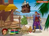 AdventureQuest Browser The seaside town of Lolosia, featuring a peg-legged pirate, among other things.