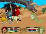 AdventureQuest Browser My favorite weapon, the Dragonfang Scimitar, can summon a wind dragon to lend its assistance.