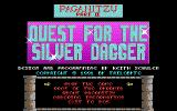 "Paganitzu DOS ""Quest for the Silver Dagger"" title screen/main menu."