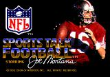 NFL Sports Talk Football '93 Starring Joe Montana Genesis Title screen