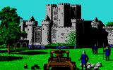 Defender of the Crown PC Booter Attacking a Norman castle (EGA)