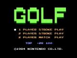 Golf NES Title screen