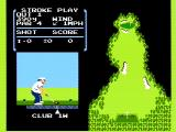 Golf NES Tee off on the first hole