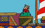 Asterix: Caesar's Challenge DOS Hitting the pirates.