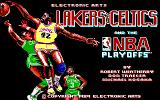 Lakers versus Celtics and the NBA Playoffs DOS Title Screen