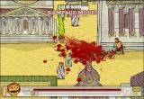 Viva Caligula! Browser Rampage mode - you can kill anyone with one blow, resulting in the screen shaking and leaving only bits and blood from the victim