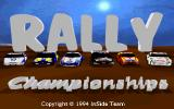 Rally Championships DOS Title screen