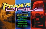 Power Drive DOS Title screen/Main menu