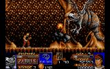 Risky Woods DOS Fighting Zabrus the first boss.