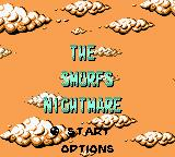 The Smurfs' Nightmare Game Boy Color Title and main menu (English)