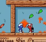 The Smurfs' Nightmare Game Boy Color Evil smurf (red) on your way